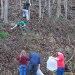 Climbing the Hill to Clean up the Trash