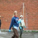 Regina Donour lending a Hand