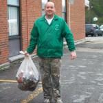 Brian Bentley lending a hand
