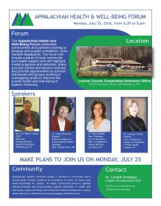 Appalachian Health & Well-being Forum